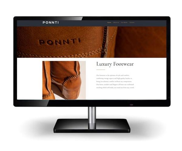 Vytvorenie webstránky Ponnti