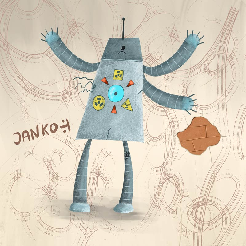Animované kreslenie animovaných postavičiek.