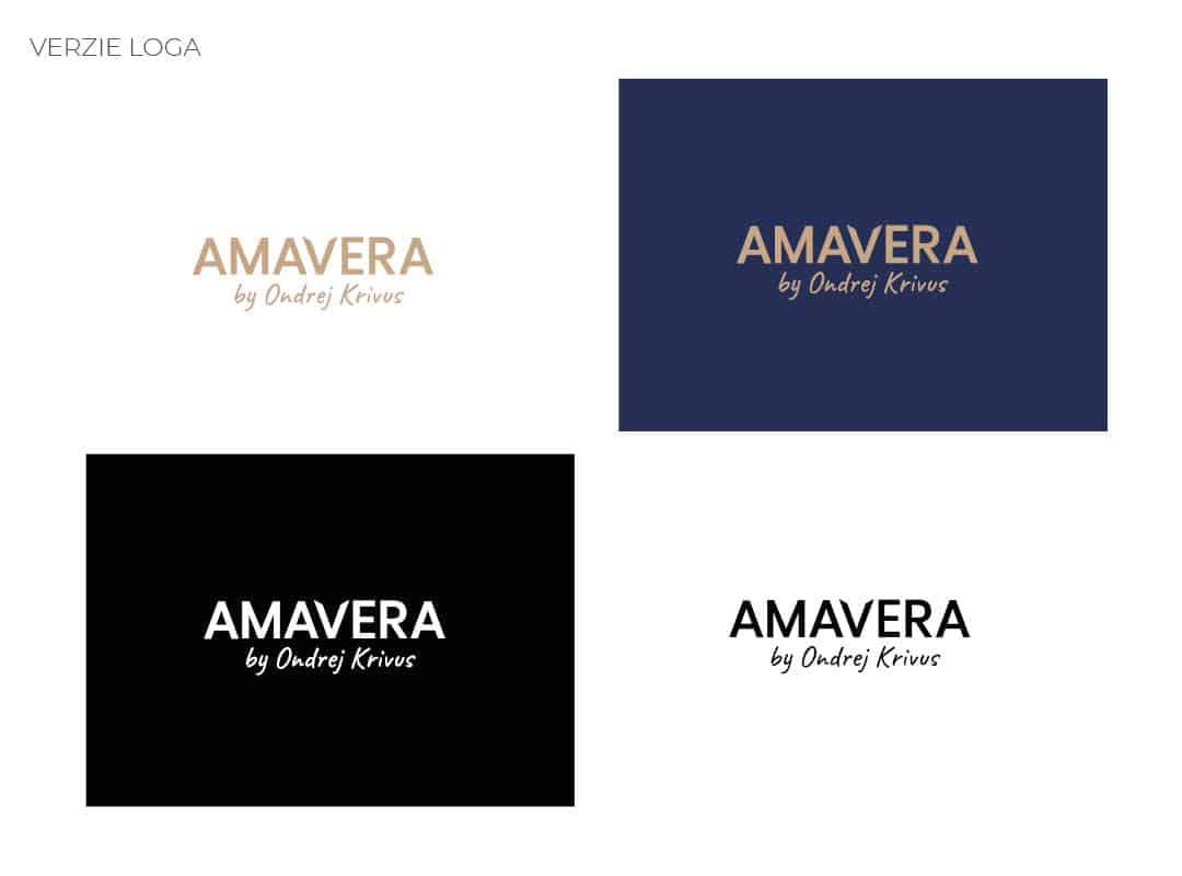 Finálne verzie loga firemnej identity AMAVERA