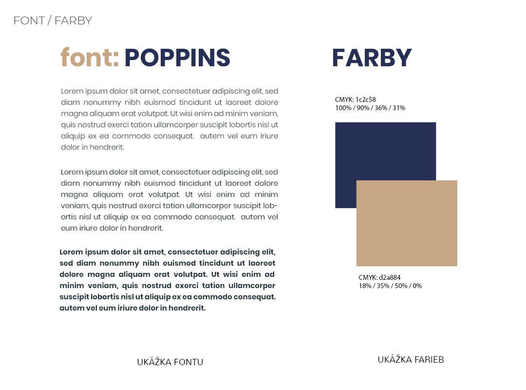 Náhľad zvoleného fontu a farieb pre firemnú identitu AMAVERA
