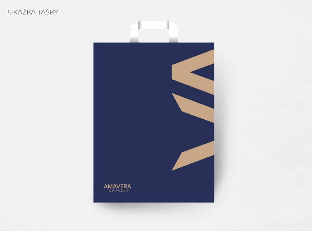 Ukážka na taške firemnej identity AMAVERA