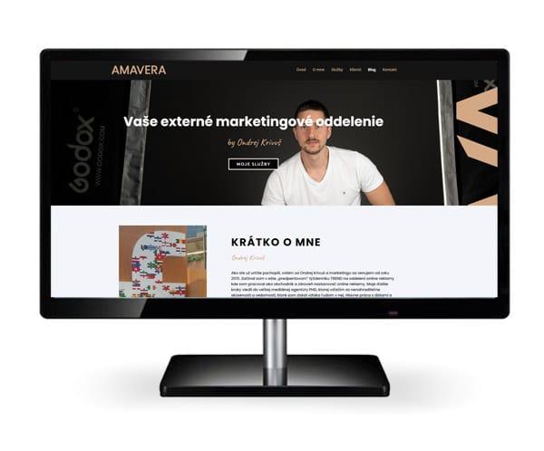 Náhľad webstránky AMAVERA